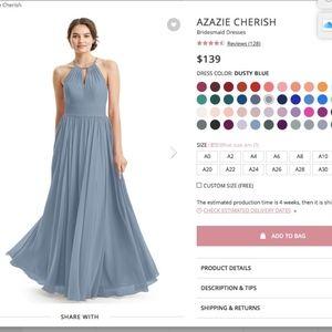 Azazie Cherish in Dusty Blue